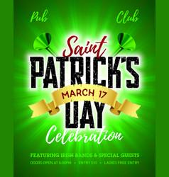 Saint patricks day 17 march feast of saint vector