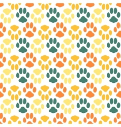 Seamless pattern with animal footprint texture vector image