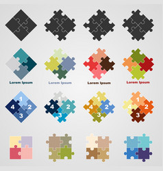 set of puzzle symbols vector image