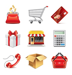 set shopping vector image vector image