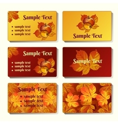 Templates and cards in the autumn style vector