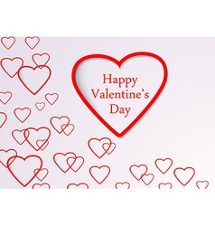 Valentine background with hearts flying vector image vector image