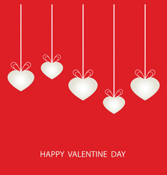 valentines day with shaped heart vector image vector image