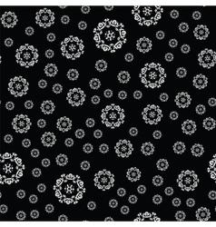 Winter card snowflake pattern vector image vector image