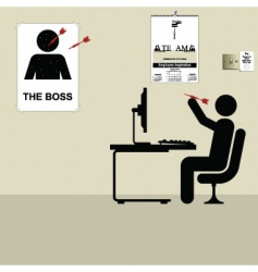 the boss vector image