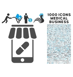 Online pharmacy icon with 1000 medical business vector