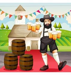 Oktoberfest in Germany vector image