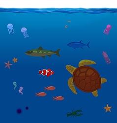 Underwater Inhabitants Sea Life Part 1 vector image