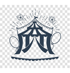 Silhouette icon of the circus tent for logo vector