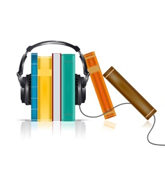 Audio books concept vector