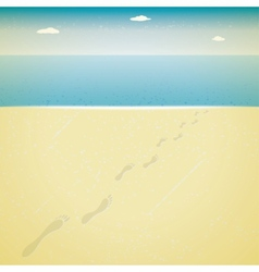 Footprints in the sand vector