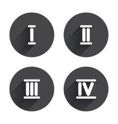 Roman numeral icons number one two three vector
