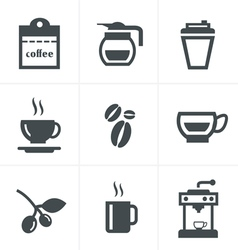 Coffee icons with white background vector