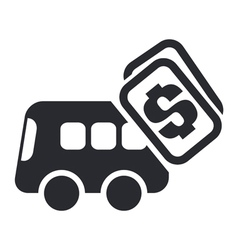 bus cost icon vector image