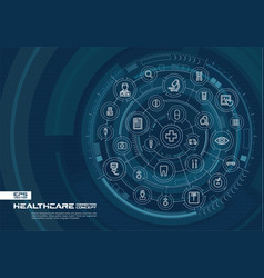 abstract healthcare and medicine background vector image vector image