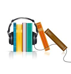 Audio books concept vector