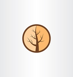 Cracked wood tree logo icon vector