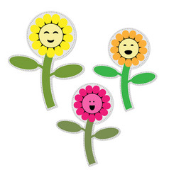 Cute flower garden isolated icon vector