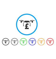 drone pound business rounded icon vector image vector image