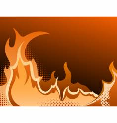 fire halftone background vector image vector image