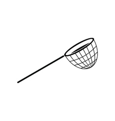 Fishing net black simple icon vector