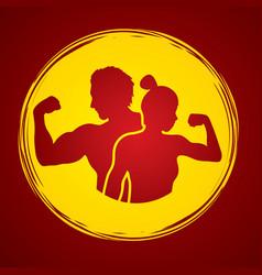 fitness man and woman healthy human vector image vector image