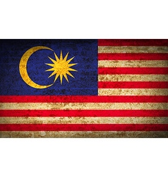 Flags Malaysia with dirty paper texture vector image