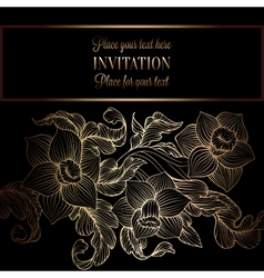 Floreal background with antique luxury black and vector