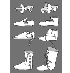 Footwear from the 13th century vector