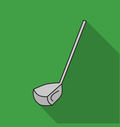 golf club icon in flat style isolated on white vector image