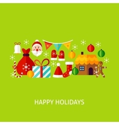 Happy holidays greeting concept vector