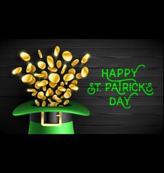Happy saint patricks day greeting card design vector