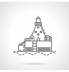 Harbor dock line icon vector image vector image