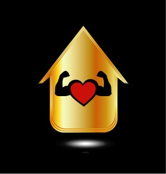 House with a healthy heart vector image vector image