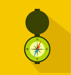 Hunting compass flat icon cartoon style vector
