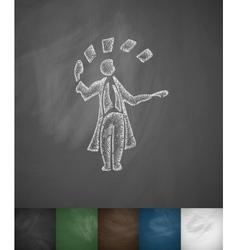 Icon hand drawn vector