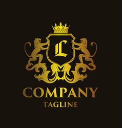 luxury letter l logo vector image vector image