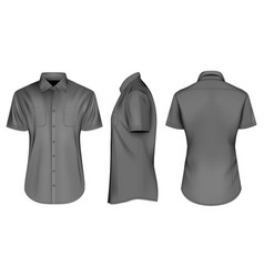 Mens black short sleeve vector