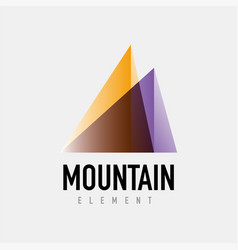 Mountain logo geometric design vector