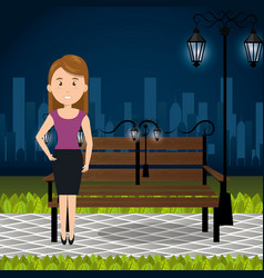 Person on the park vector