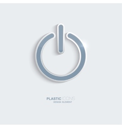 Plastic icon Power symbol vector image vector image