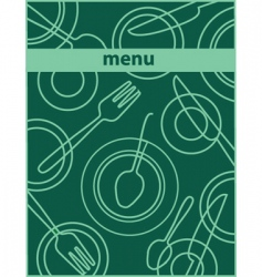 restaurant cafe menu vector image vector image