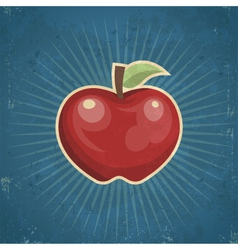Retro apple vector