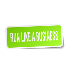 Run like a business square sticker on white vector