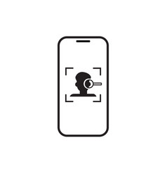 Smart phone face scanning recognition system vector