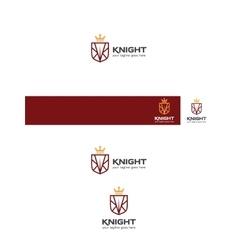 Vintage knight logo vector