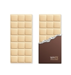 White chocolate package bar blank vector