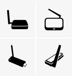 wifi tv adapters vector image vector image