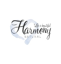 Natural Harmony Beauty Promo Sign vector image