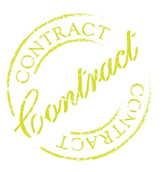 Contract rubber stamp vector